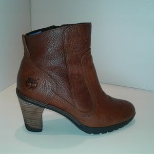 Timberland Brown Leather Insulated Ankle Boots